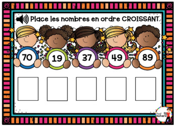 French NEW YEAR'S DAY BOOM Cards - Ordre Croissant (Jour de l'AN : Jeu 2)