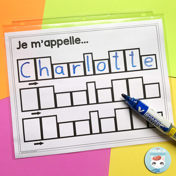 French Name Writing Practice Sheets: for tutors / parents