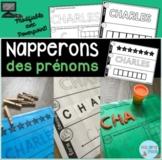 French Names Mats EDITABLE/ Napperons des prénoms (modifiable)