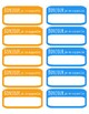 """French Nametags / """"Bonjour je m'appelle"""" stickers"""