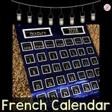 French Natural Mason Jar Calendar or Calendrier