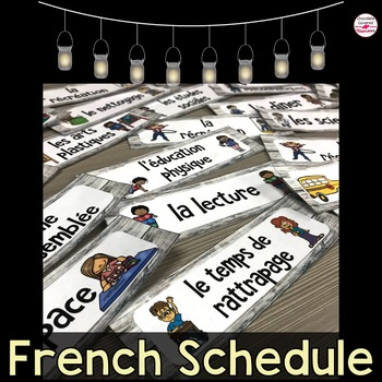 French Natural Schedule Cards