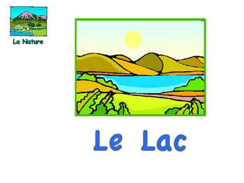 French Nature Vocabulary and Activities Powerpoint