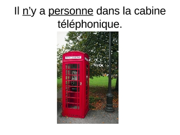 French Ne Personne et Ne Rien