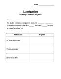 French Negative Sentences