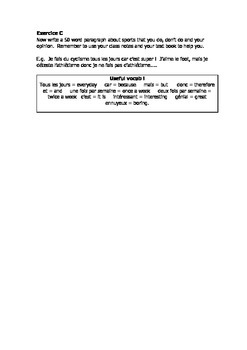French Teaching Resources. Negatives Introduction Worksheet: ne + pas