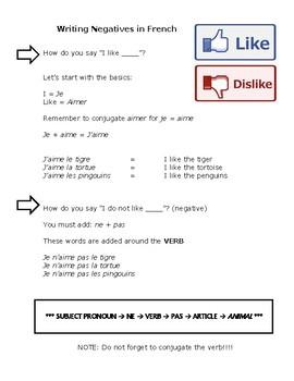 French Negatives (ne...pas)