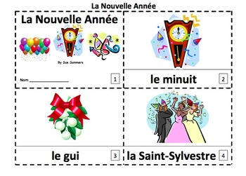 French New Year 2 Emergent Reader Booklets and Presentation