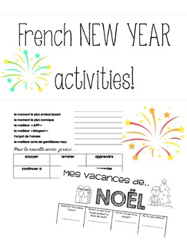 French New Year / Nouvel An activities!