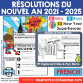 French New Year Resolutions 2020 Activity - Resolutions du