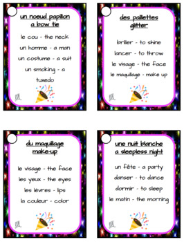 French New Year's Day Taboo Game - Nouvel An Français