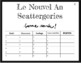 French New Year's Scattergories Game - Nouvel An