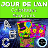 French New Years Color by Letter  | Coloriages Magiques: J