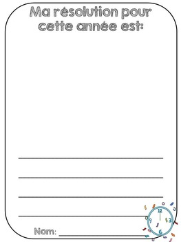 French New Years - Flashcards and Activity Sheets - La nouvelle année