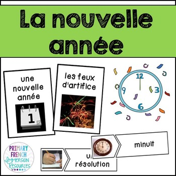 French New Years - Flashcards and Activity Sheets - La nou