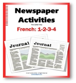 French Newspaper Activities for all levels with Reading, W