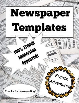 French Newspaper Templates