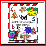 French – Noël – Christmas – word scramble