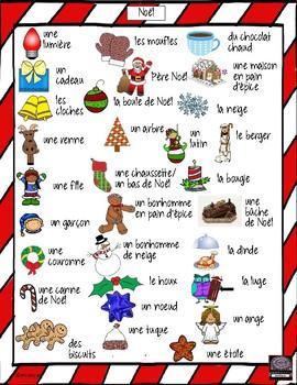 French – Noël – Christmas – word scramble