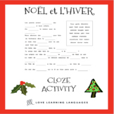 French Noël Cloze Activity - French Christmas Worksheet