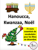 French: Noël, Hanoucca, Kwanzaa, Cartes éclairs, French Core & Immersion