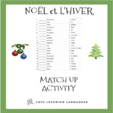 French Noël Match Up Activities - French Christmas Worksheets