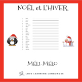 French Noël Méli-Mélo - French Christmas Scrambled Words A