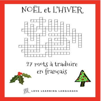 picture regarding Christmas Crosswords Printable called Xmas Crosswords Worksheets Education Supplies TpT