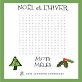 French Noël Mots Mêlés - French Christmas Word Search