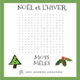 French Noël Mots Mêlés - French Christmas Word Search