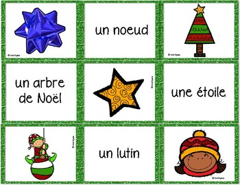 French - Noël - Version B matching game