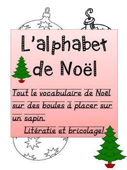"""French: """"Noël et son abécédaire"""", Activité, French Core &"""