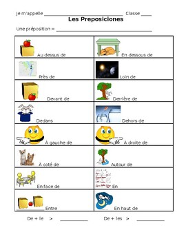 French Notes on Prepositions