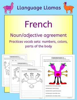 French Numbers, Parts of the Body, Colors - Noun adjective agreement