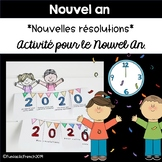 French Nouvelle Année New Year Resolution Craftivity Flapbook