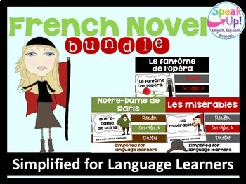 French Novel Readers {Bundle} & Sentence forming pages
