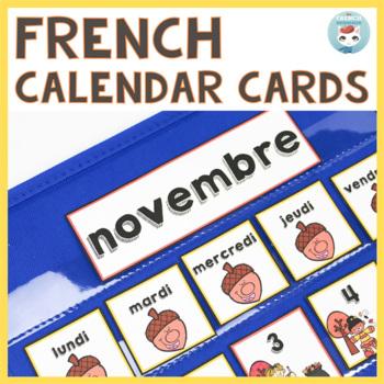 French November Calendar Cards | NOVEMBRE