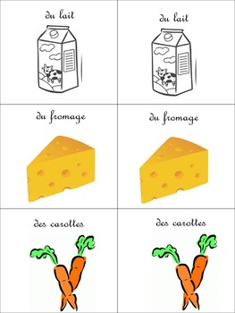 French Novice-Mid Food and Partitive Article Card Game