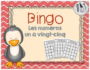 French Number Bingo (1-25)