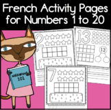 French Number Book Coloring and Activity Pages