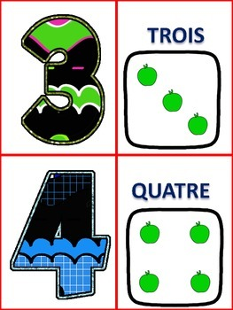 French Number Cards 0-20
