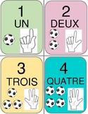 French - Number Cards 1 to 10