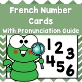 French Number Cards With Pronunciation