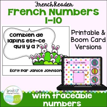French Number/Counting Bunny Readers ~ Combien de lapins est-ce qu'il y a?