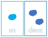 French Number Flashcards (1-10) Les chiffres