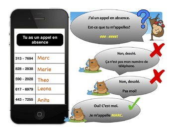 French Number Game PPT - Appel en Absence!