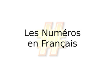French Number Guided Notes 1-1000