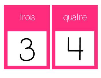 French Number Line Ligne de numéros - PINK