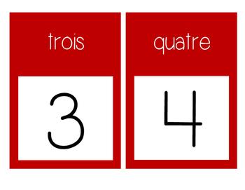 French Number Line Ligne de numéros - RED