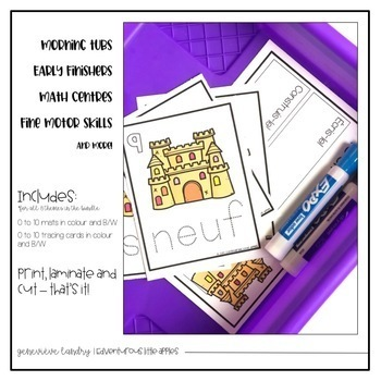 French Number Mats and Tracing Cards: THE BUNDLE